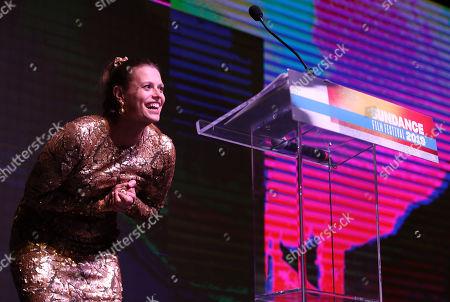 Marianna Palka hosts the 2019 Sundance Film Festival awards ceremony in Park City, Utah, USA, 02 February 2019.