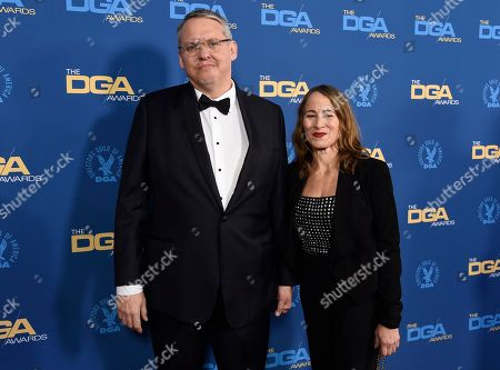 Adam McKay, Shira Piven. Adam McKay, left, and Shira Piven arrive at the 71st annual DGA Awards at the Ray Dolby Ballroom, in Los Angeles