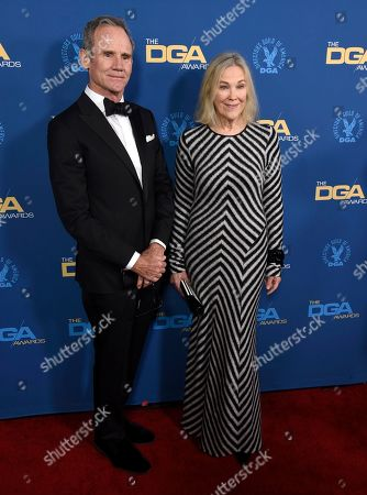 Bo Welch, Catherine O'Hara. Bo Welch, left, and Catherine O'Hara arrive at the 71st annual DGA Awards at the Ray Dolby Ballroom, in Los Angeles