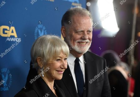 Helen Mirren, Taylor Hackford. Helen Mirren, left, and Taylor Hackford arrive at the 71st annual DGA Awards at the Ray Dolby Ballroom, in Los Angeles