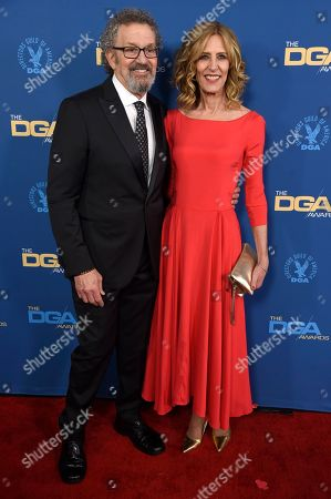Thomas Schlamme, Christine Lahti. Thomas Schlamme, left, and Christine Lahti arrive at the 71st annual DGA Awards at the Ray Dolby Ballroom, in Los Angeles