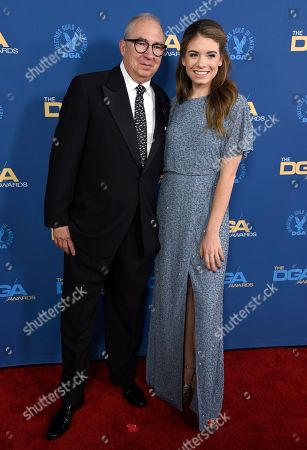 Stock Photo of Barry Sonnenfeld, Chloe Sonnenfeld. Barry Sonnenfeld, left, and Chloe Sonnenfeld arrive at the 71st annual DGA Awards at the Ray Dolby Ballroom, in Los Angeles