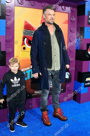 Stock Picture of Josh Duhamel (R) and his son Axl Jack Duhamel (L) arrive for the premiere of Warner Bros. Pictures' 'The Lego Movie 2: The Second Part' at Regency Village Theater in Los Angeles, California, USA, 02 February 2019. The movie opens in the US on 08 February 2019.