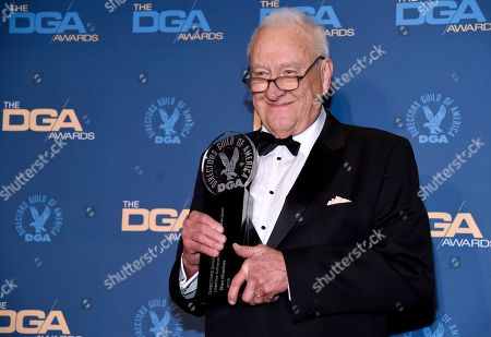 Stock Picture of Don Mischer poses in the press room with the Lifetime Achievement award at the 71st annual DGA Awards at the Ray Dolby Ballroom, in Los Angeles