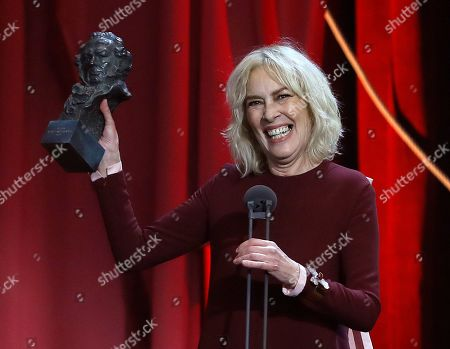 Susi Sanchez receives the Goya Award for the Best Actress for her role in the film 'La enfermedad del domingo' (lit: Sunday's Sickness) during the 33rd Goya Awards handover ceremony celebrated at the Conference Center, in Seville, southern Spain, 02 February 2019 (issued 03 February 2019).