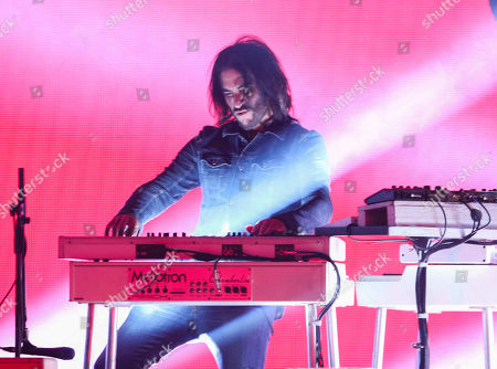 Rami Jaffee with Foo Fighters performs during the DIRECTV Super Saturday Night at Atlantic Station, in Atlanta