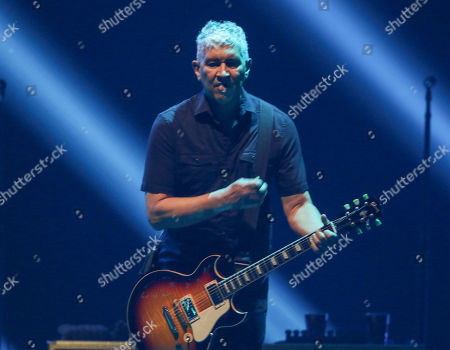 Pat Smear with Foo Fighters performs during the DIRECTV Super Saturday Night at Atlantic Station, in Atlanta
