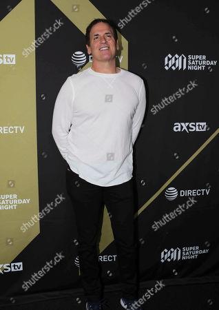 Mark Cuban arrives during the DIRECTV Super Saturday Night at Atlantic Station, in Atlanta