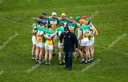 Offaly vs Dublin. Offaly manager Kevin Martin with his team