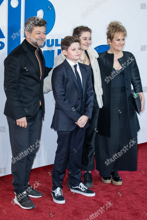 Andy Serkis, Louis Ashbourne Serkis, Ruby Serkis and Lorraine Ashbourne
