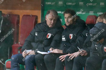 Stefan Reuter (FC Augsburg) and Co-Tainer Jens Lehmann (FC Augsburg), FC Augsburg vs. 1. FSV Mainz 05, Football, 1.Bundesliga, 02.02.2019, DFL REGULATIONS PROHIBIT ANY USE OF PHOTOGRAPHS AS IMAGE SEQUENCES AND/OR QUASI-VIDEO