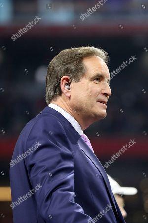 Announcer Jim Nantz is seen after NFL Super Bowl 53, in Atlanta. The Patriots won 13-3