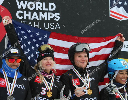 Editorial picture of 2019 FIS Freestyle Ski World Championships in Park City Utah 'Snowboard Cross Team Mix ', Solitude, USA - 03 Feb 2019