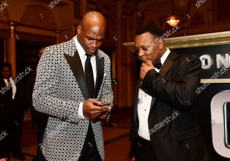 Adrian Peterson, Barry Sanders. Adrian Peterson of the Washington Redskins, left, and former NFL player Barry Sanders attend the 8th Annual NFL Honors at The Fox Theatre, in Atlanta