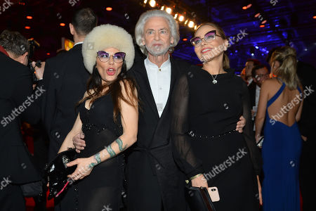 Stock Image of Dr Hermann Buehlbecker and Ornella Muti and daughter Naike Rivelli