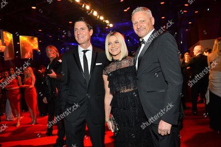 Marcus Hoefl, Stefan Bloecher and Partnerin Anna Posch