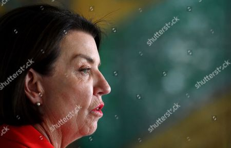Stock Image of Australian Banking Association CEO Anna Bligh speaks at a press conference in response to the releasing of the Banking Royal Commission findings at Parliament House in Canberra, Australia, 04 February 2019.