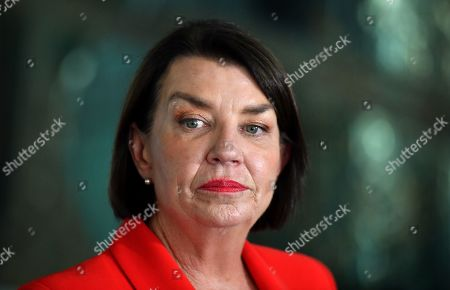 Stock Photo of Australian Banking Association CEO Anna Bligh speaks at a press conference in response to the releasing of the Banking Royal Commission findings at Parliament House in Canberra, Australia, 04 February 2019.