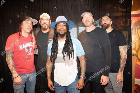 Morgan Rose, John Connolly, Lajon Witherspoon, Vince Hornsb, Clint Lowery. Morgan Rose, from left, John Connolly, Lajon Witherspoon, Vince Hornsb, and Clint Lowery of Sevendust pose on board the Carnival Valor during day 2 of the ShipRocked cruise on