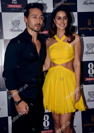 Stock Image of Actor Tiger Shroff and Larissa Bonesi are seen during the music video launch, Areyoucoming, at hotel Taj Lands End in Mumbai.
