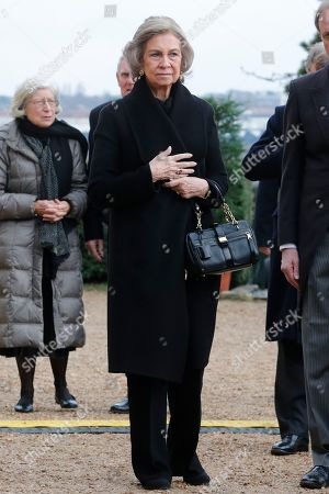 Former Queen Sofia at the ceremony