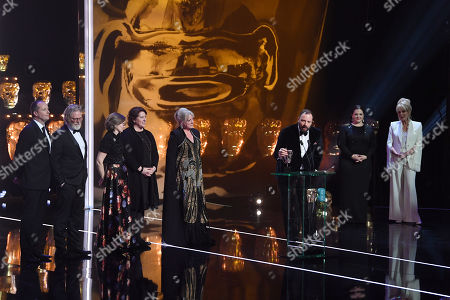 Exclusive - Yorgos Lanthimos, Ceci Dempsey, Ed Guiney, Lee Magiday, Deborah Davis and Tony McNamara - Outstanding British Film - 'The Favourite' presented by Melissa McCarthy