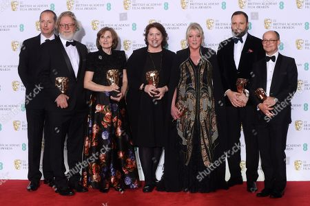 Yorgos Lanthimos, Ceci Dempsey, Ed Guiney, Lee Magiday, Deborah Davis and Tony McNamara - Outstanding British Film - 'The Favourite'