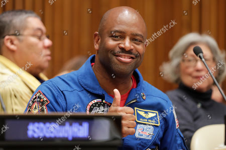 Stock Image of Leland Melvin, During the Library Study Hall Sustainable Fashion Summit today at the UN Headquarters