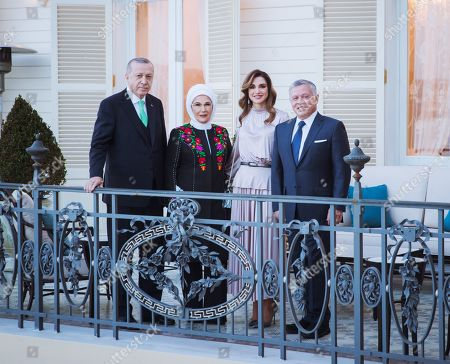 Their Majesties King Abdullah II and Queen Rania and Recep Tayyip Erdogan and First Lady Emine Gulbaran in Istanbul