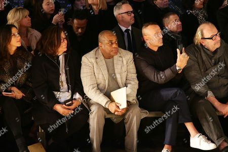 Stock Photo of Fern Mallis, Jeffrey Banks, and Steven Kolb in the front row
