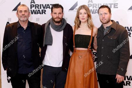 Paul Conroy, Jamie Dornan, Rosamund Pike and Matthew Heineman