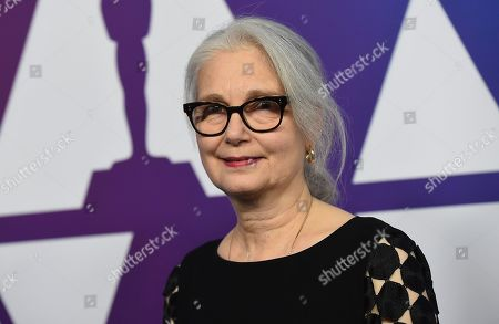Mildred Iatrou Morgan arrives at the 91st Academy Awards Nominees Luncheon, at The Beverly Hilton Hotel in Beverly Hills, Calif