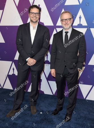 Phil Johnson, Rich Moore. Phil Johnson, left, and Rich Moore arrive at the 91st Academy Awards Nominees Luncheon, at The Beverly Hilton Hotel in Beverly Hills, Calif