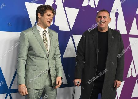 Jason Blum, Graham King. Jason Blum, left, and Graham King arrive at the 91st Academy Awards Nominees Luncheon, at The Beverly Hilton Hotel in Beverly Hills, Calif