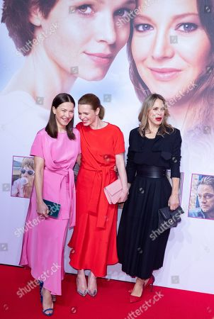 "Stock Photo of Hannah Herzsprung, Karoline Herfurth and Anneke Kim Sarnau pose at the red carpet during the world premiere of the movie ""Sweethearts"" at the Zoo Palast in Berlin, Germany, 04 February 2019. The German film will be released on 14 February."