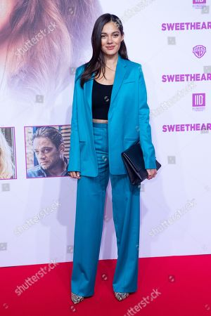 """Nilam Farooq poses at the red carpet during the world premiere of the movie """"Sweethearts"""" at the Zoo Palast in Berlin, Germany, 04 February 2019. The German film will be released on 14 February."""