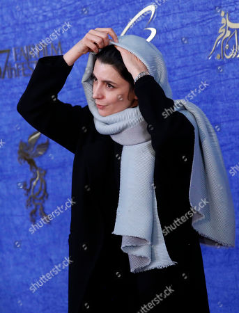 Stock Image of Leila Hatami, cast member of Iranian movie 'The man without shadow (Sayeh)' arrives for the 37th Fajr Film festival at the Pardis Complex in Tehran, Iran, 04 February 2019. The festival runs to 11 February.