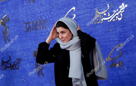 Leila Hatami, cast member of Iranian movie 'The man without shadow (Sayeh)' arrives for the 37th Fajr Film festival at the Pardis Complex in Tehran, Iran, 04 February 2019. The festival runs to 11 February.