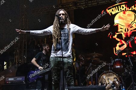 Brian Welch performs with The Stowaways on board the Carnival Valor during day 3 of the ShipRocked cruise on