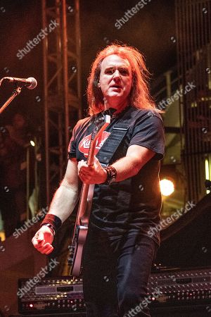 David Ellefson performs with The Stowaways on board the Carnival Valor during day 3 of the ShipRocked cruise on