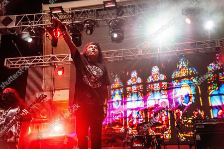 Stock Picture of Joey Belladonna performs with The Stowaways on board the Carnival Valor during day 3 of the ShipRocked cruise on