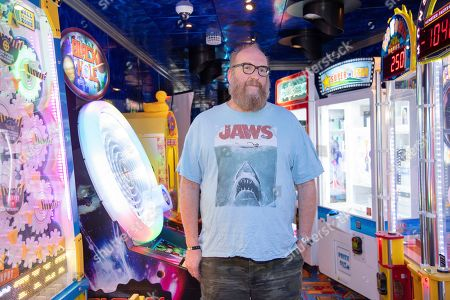 Stock Photo of Brian Posehn poses on board the Carnival Valor during day 5 of the ShipRocked cruise on