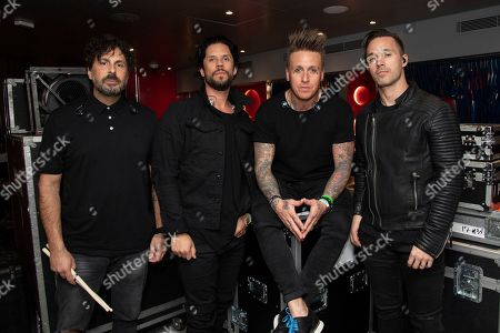 Tony Palermo, Jacoby Shaddix, Tobin Esperance, Jerry Horton. Tony Palermo, from left, Tobin Esperance, Jacoby Shaddix, and Jerry Horton of Papa Roach pose on board the Carnival Valor during day 5 of the ShipRocked cruise on