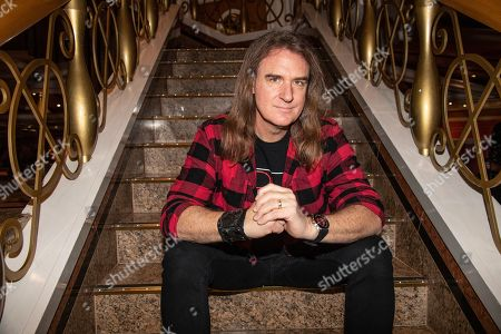 Stock Image of David Ellefson poses on board the Carnival Valor during day 5 of the ShipRocked cruise on