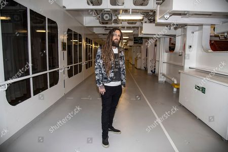 Brian Welch seen on board the Carnival Valor during day 5 of the ShipRocked cruise on
