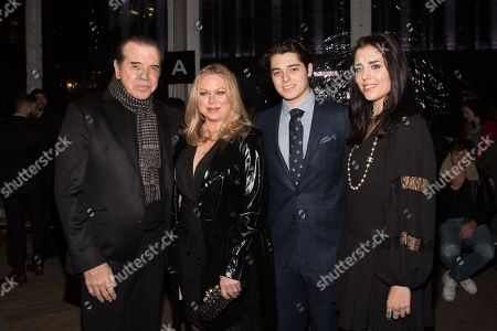 Chazz Palminteri, Gianna Ranaudo, Dante Lorenzo Palminteri and Gabriella Rose Palminteri in the front row