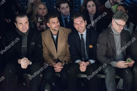 Chazz Palminteri and Johannes Huebl in the front row
