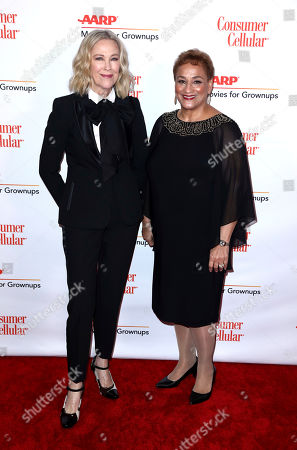Catherine O'Hara, Jo Ann Jenkins. Catherine O'Hara, left, and AARP CEO Jo Ann Jenkins attend AARP The Magazine's 18th Annual Movies For Grownups Awards at Beverly Wilshire Hotel, in Beverly Hills, Calif