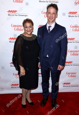 Jo Ann Jenkins, Jeff Whitty. AARP CEO Jo Ann Jenkins, left, and Jeff Whitty attend AARP The Magazine's 18th Annual Movies For Grownups Awards at Beverly Wilshire Hotel, in Beverly Hills, Calif
