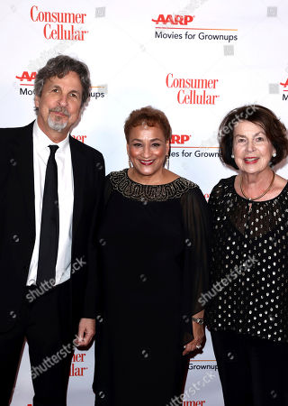 Peter Farrelly, Jo Ann Jenkins, Mariann Farrelly. Peter Farrelly, left, and AARP CEO Jo Ann Jenkins, and Mariann Farrelly attend AARP The Magazine's 18th Annual Movies For Grownups Awards at Beverly Wilshire Hotel, in Beverly Hills, Calif